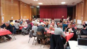 Une salle Amirauté bien remplie pour notre souper de janvier 2017