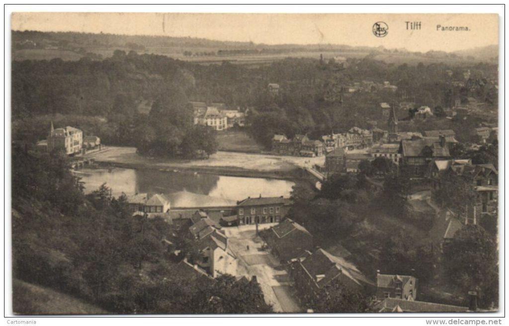 Panorama de Tilff dans l'axe de la rue Fond du moulin
